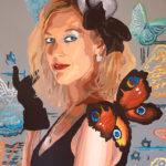 Autoportree pop-art stiilis (akrüül, 2014)
