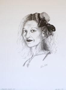 Autoportree, graafiline, (29,7x42; tušš; 2014)