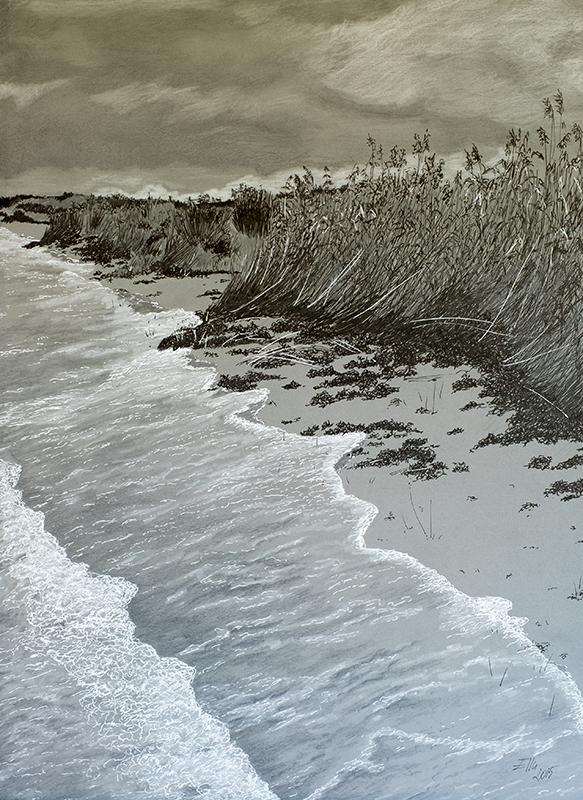 Tušš ja grafiit (29,7x42; 2015)