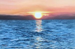 """""""Aadria merel"""" (60x40, õli, 2018)"""