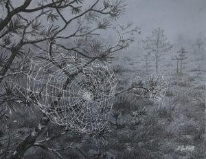 """""""Võrgutavad võrgud"""" (29,7x23; tušš ja grafiit; 2019)"""