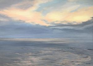 """õlimaal """"Taevas ja meri"""" (70x50; 2019)"""