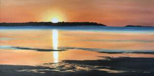 """õlimaal """"Võsu rand"""" (100x50, 2020)"""